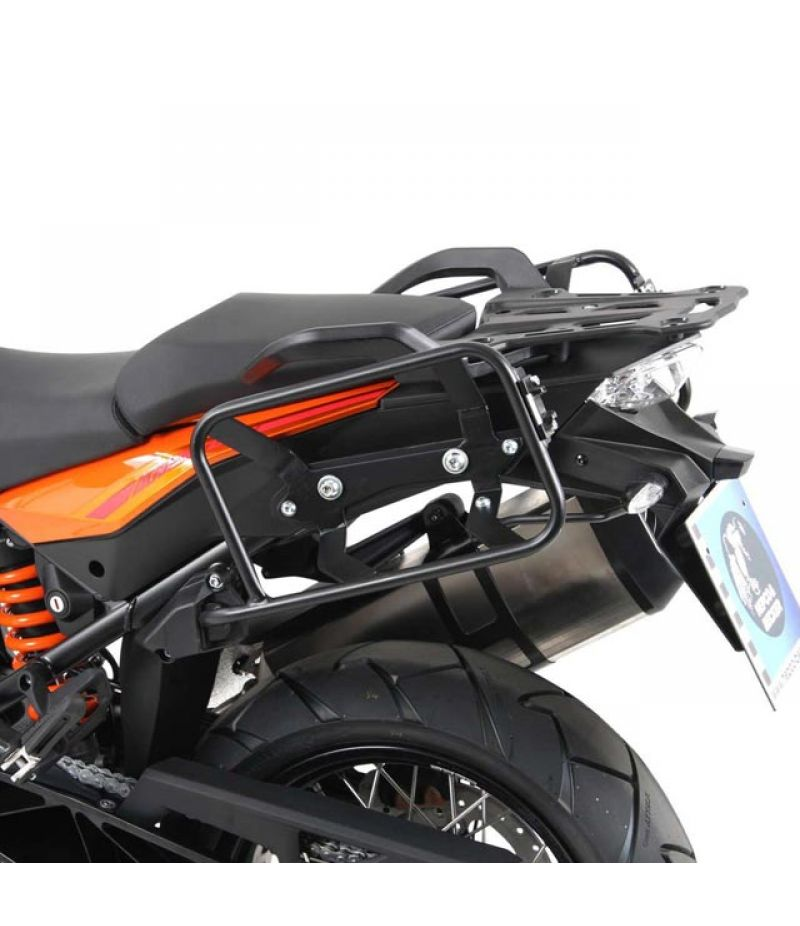 6567556 00 01 Kit telai portavaligie laterali Hepco & Becker Lock It asimmetrici col. nero per KTM 1090 Adventure dal 2017