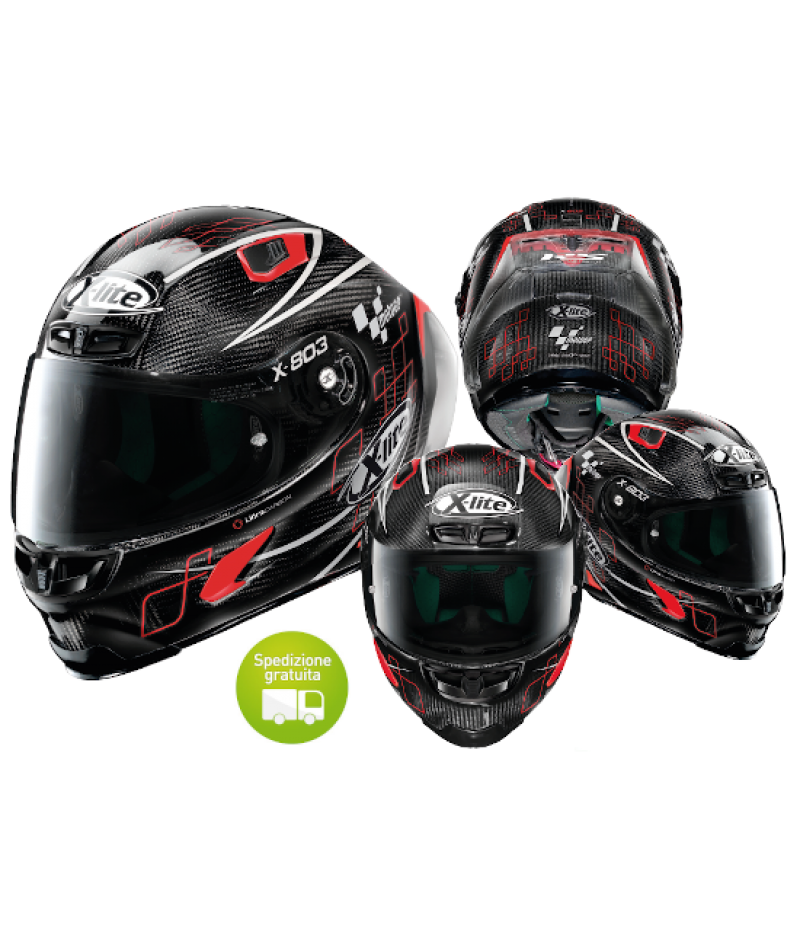 Casco moto Integrale X-Lite X-803 RS Ultra Carbon Moto GP