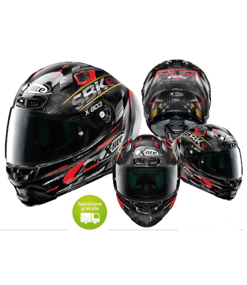 Casco moto Integrale X-Lite X-803 RS Ultra Carbon SBK