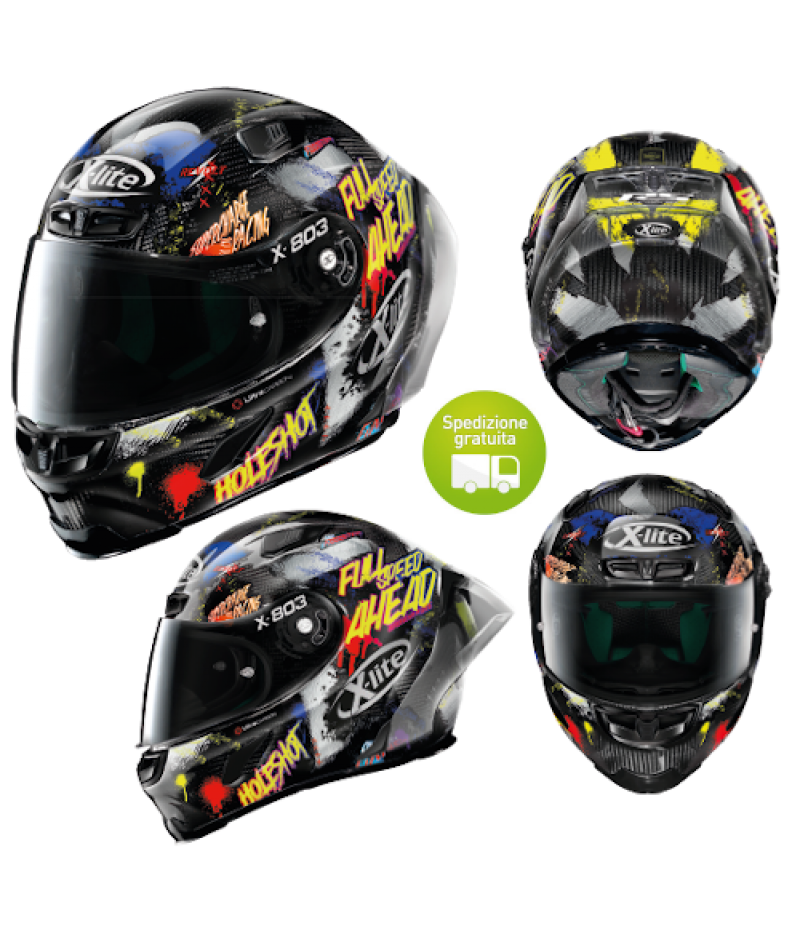 Casco moto Integrale X-Lite X-803 RS Ultra Carbon HOLESHOT