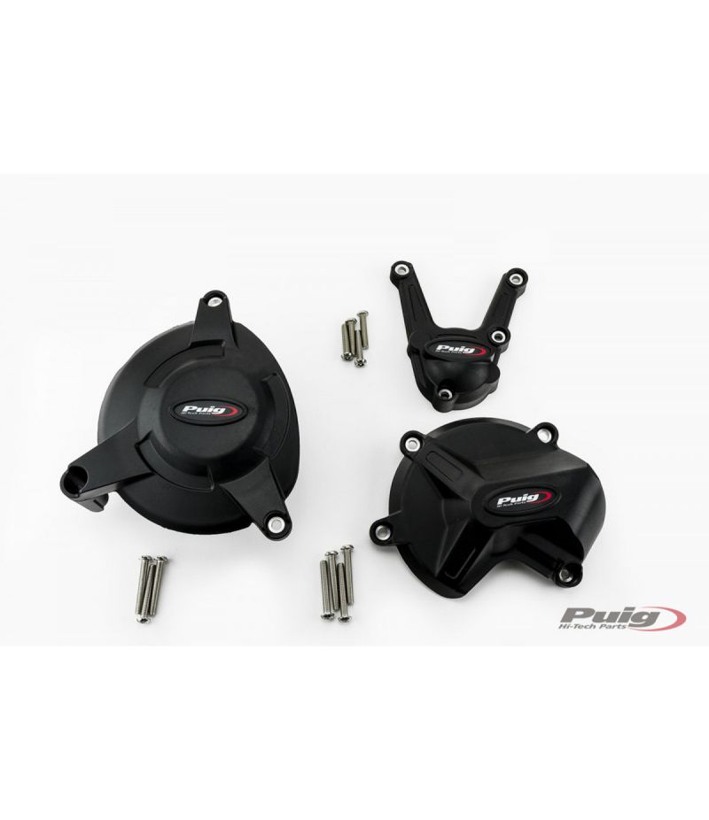 20137N Puig Protezione Carter Motore BMW S1000 R 17-19 BMW S1000 RR 17-18 e BMW S1000 XR 15-19 Nero